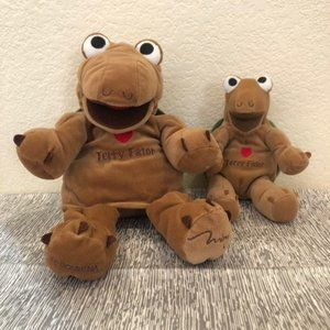 Set of 2 Terry Fator Plush Turtle Puppet